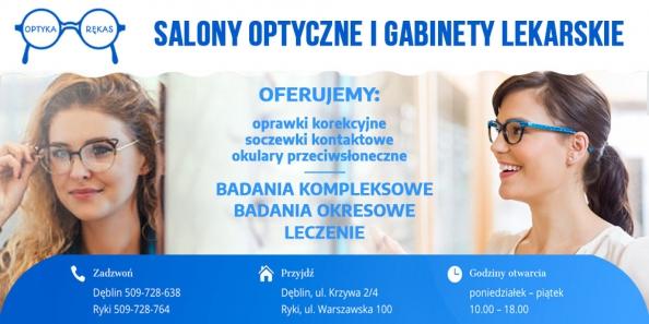 Oferta Optyka Rękas. Salony Optyczne Dęblin, Ryki